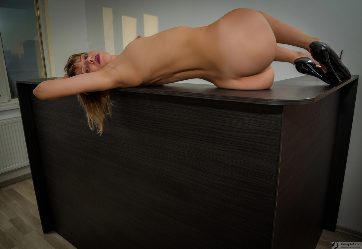 Beautiful Ukrainian Girl Naked on the Desk