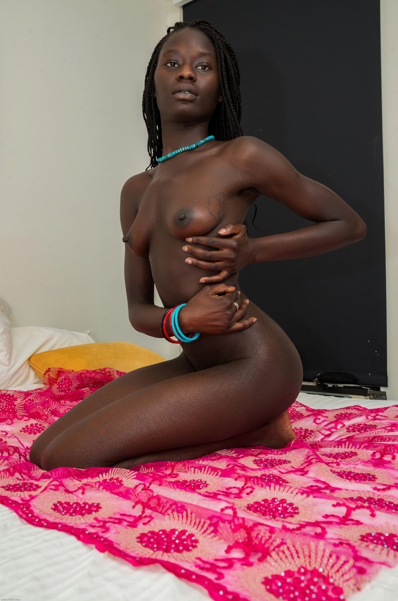 Black African Nude Woman Muse