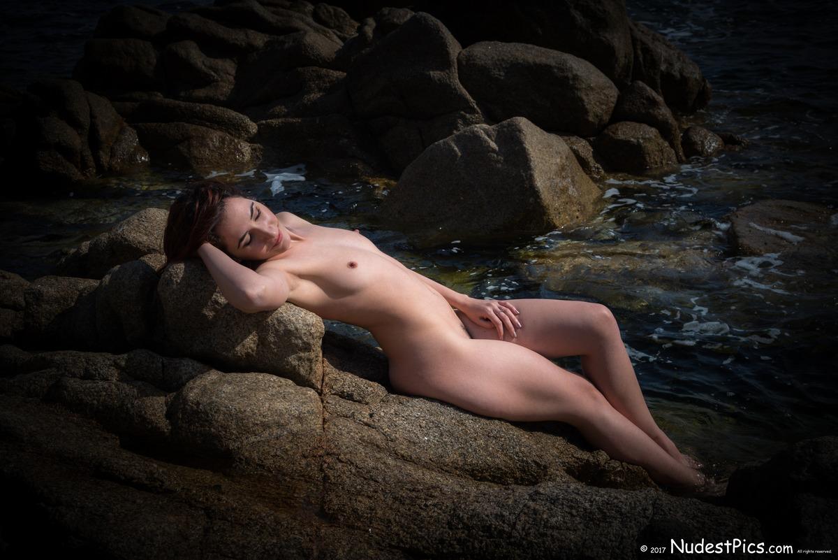 Mermaid Nudist Relaxing Sunbath